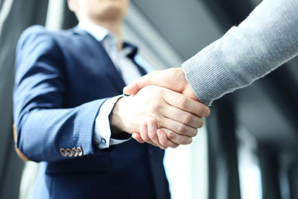 握手ビジネス成功